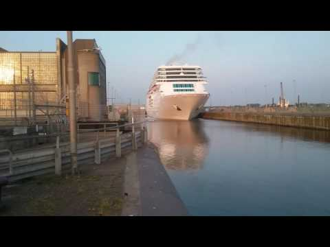 Costa neoRomantica leaving the IJmuiden North Lock 26th of may 2016