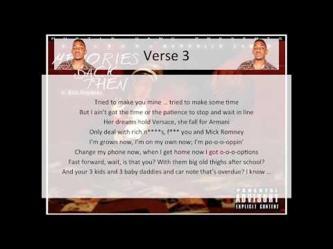 T.I. - Memories Back Then (feat. B.o.B, Kendrick Lamar & Kris Stephens) [Clean] - LYRICS
