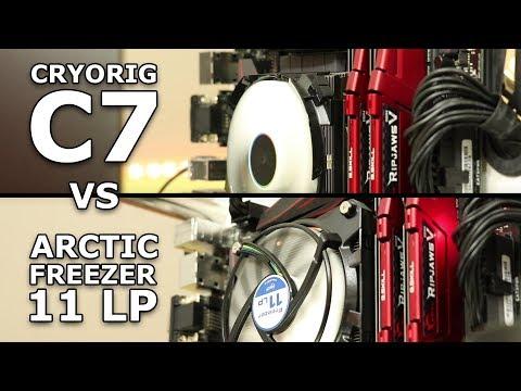 Low Profile Cooler Review: Cryorig C7 vs Arctic Freezer 11 LP