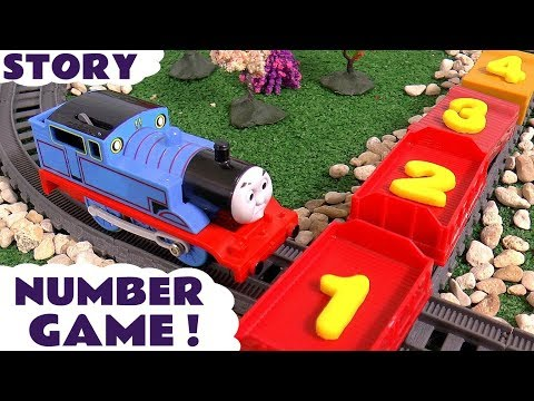 Thomas and Friends Play Doh Numbers Game   Family Fun counting Toy Train Toys Number Logo