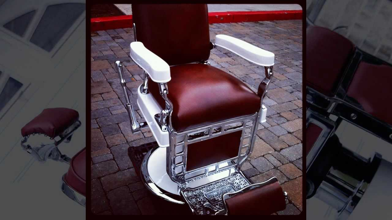 1920s Theo A Koch Barber Chair Restoration  YouTube