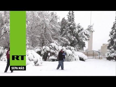 México 'se disfraza' de Siberia tras una ola de frío y nieve
