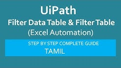 UiPath-Filter Excel Data|Excel Automation|UiPath RPA Tutorial