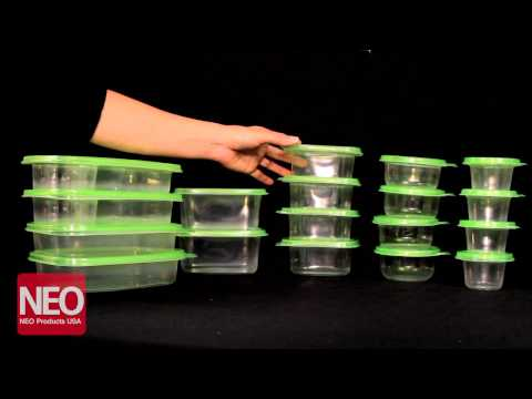 Neo Products - Plastic Storage Containers with Lids - BPA Free