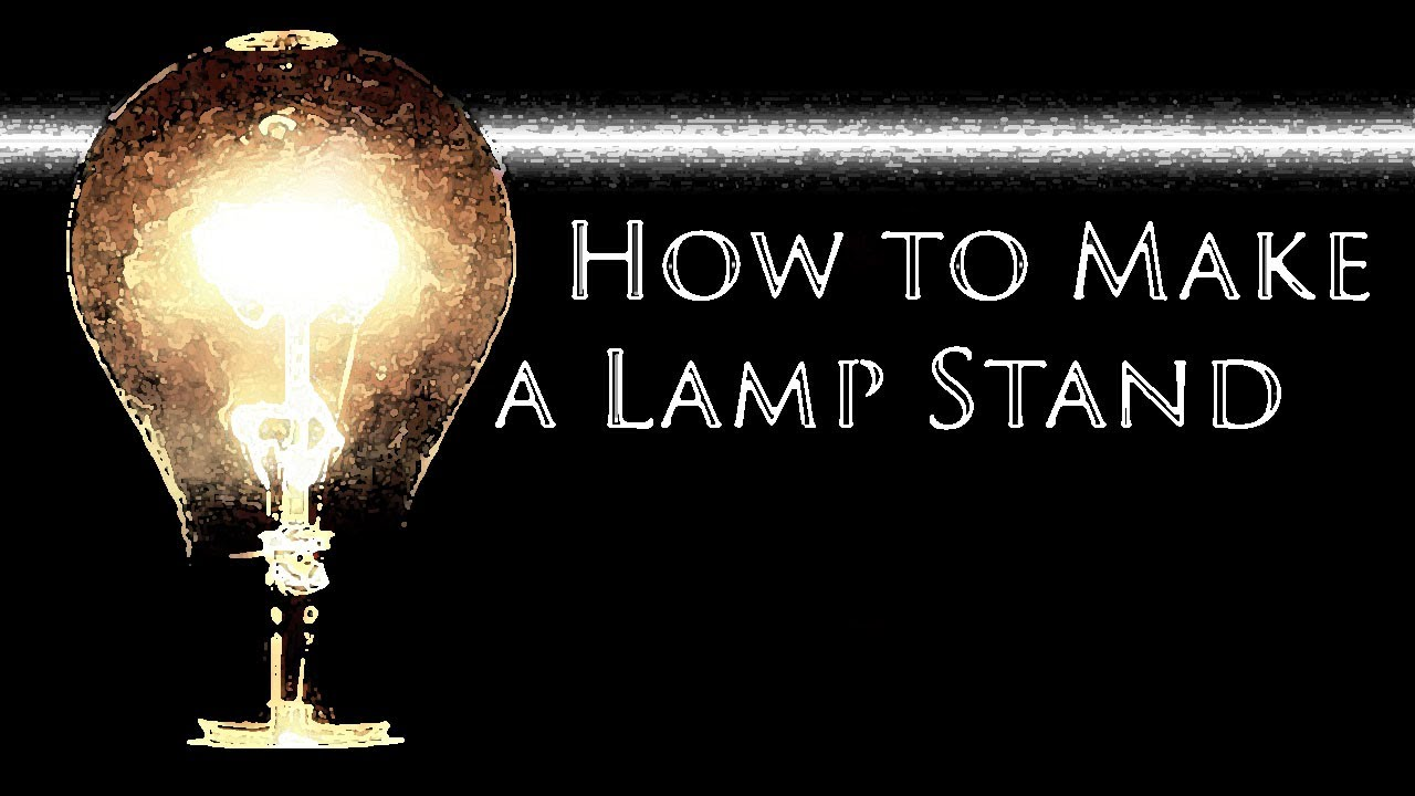 How To Make A Lamp Stand With An Electrical Meter And Outlet
