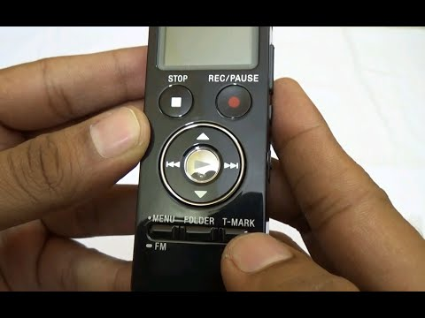 Sony ICD-UX533F Digital Voice Recorder. Unboxing and hands ...