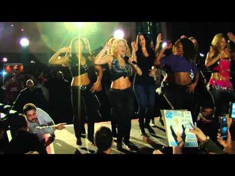 "Shakira Performs ""Loca"" in Honda Center Parking Lot in Anaheim California"