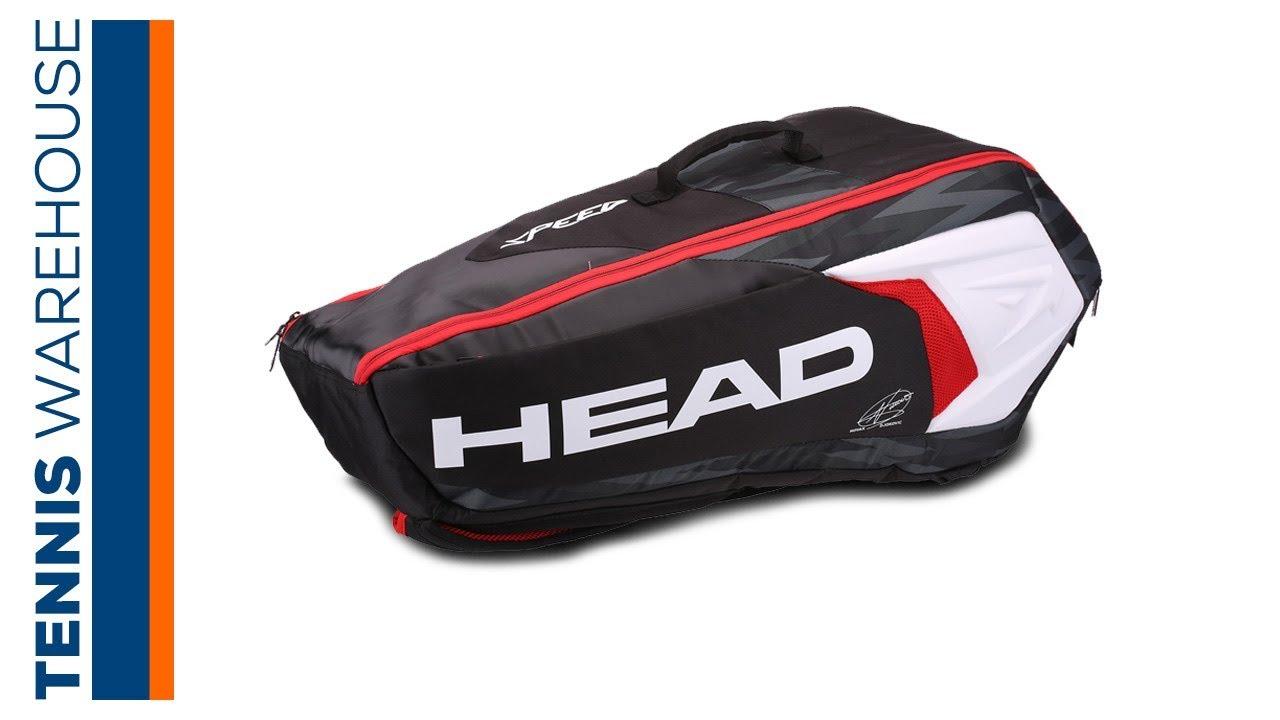 Head Tennis Bag >> Head Djokovic Combi 6 Pack Tennis Bag Youtube