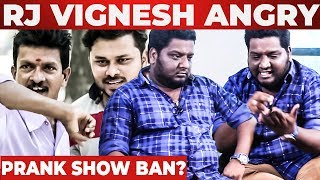 Prank show ban ?  – RJ Vignesh Reaction