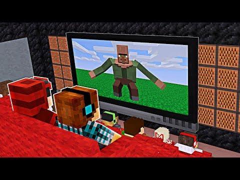 Minecraft Filme: VIDA DE VILLAGER NO CINEMA DO MINECRAFT ! thumbnail