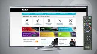 How to Connect to a Wired LAN Network using a Sony BRAVIA® LCD TV with Built In Wi-Fi