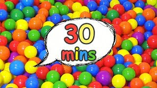 Ball Pit Show (Original) Plus Many More Videos For Kids | 30 Minute Educational Compilation