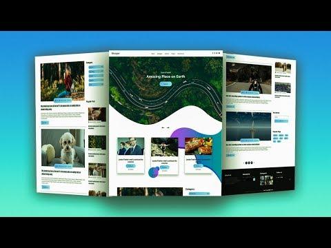 Complete Responsive Blooger Website Using HTML/CSS