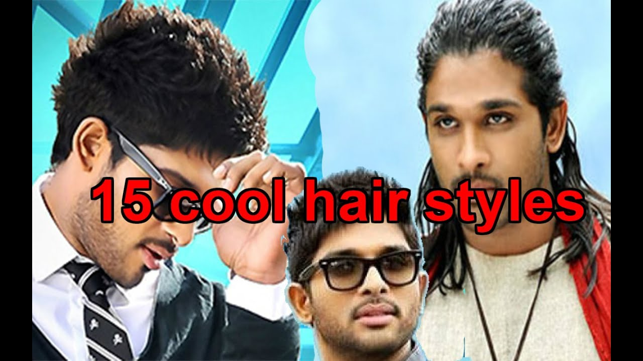 15 cool hair styles of allu arjun || hair styles for guys