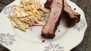 Ribs and Slaw- Cajun Cooking