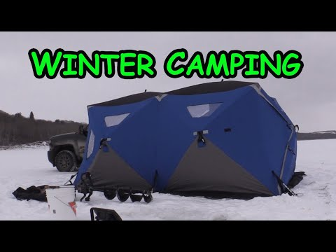 Winter Camping - (while Slamming Some Walleye)