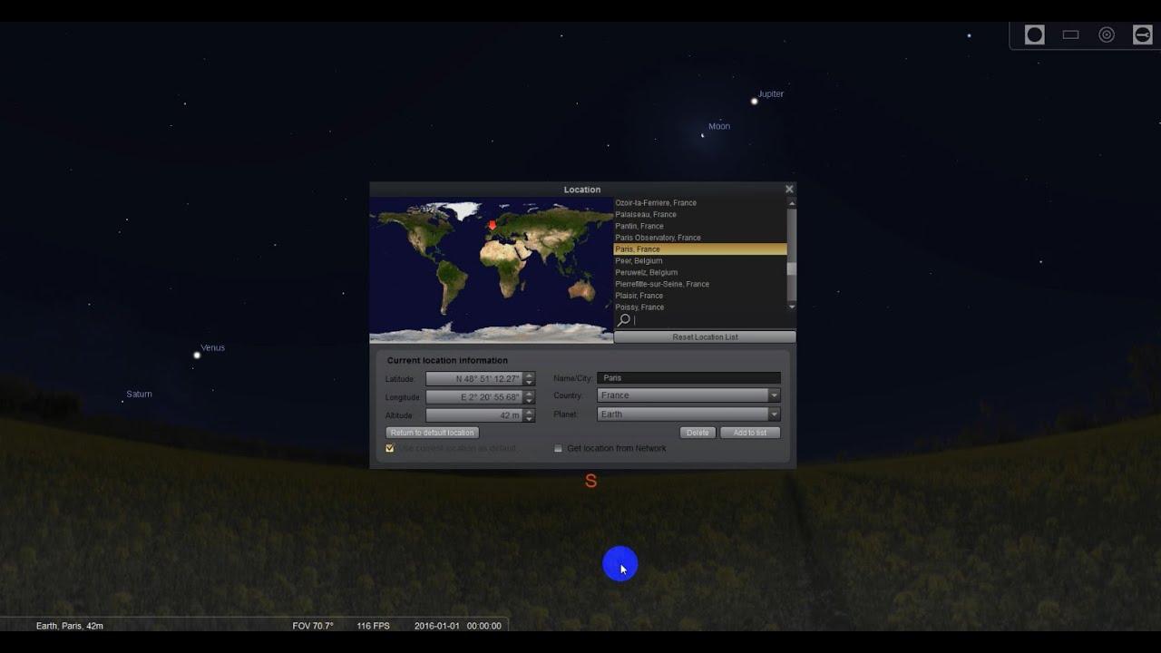how to set default location on presto
