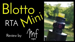 Blotto Mini RTA review in the woods | Dovpo/Vaping Bogan | Inc wicking tutorial