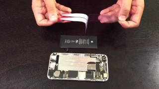 iPhone 6 Battery Adhesive Installation - Replacement Guide by ScandiTech
