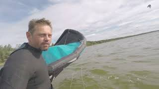 самостоятельный старт посадка надувного кайта на мелководье