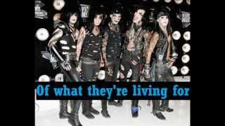 Black Veil Brides - Set the world on fire Lyrics