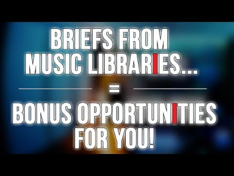 Creative Briefs from Music Libraries...