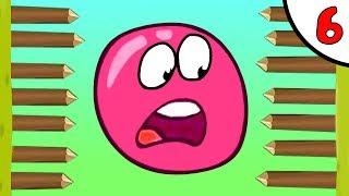 Несносный КРАСНЫЙ ШАРИК против чёрного квадрата и злого шара #6. Мультик Red Pink Ball Игрули TV