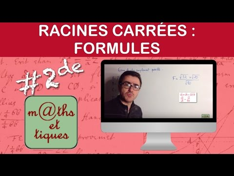 Appliquer les formules sur les racines carrées