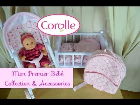 corolle mon premier bebe calin doll accessories youtube. Black Bedroom Furniture Sets. Home Design Ideas