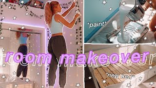 EXTREME ROOM MAKEOVER +TRANSFORMATION *aesthetic/tiktok/pinterest inspired bedroom*