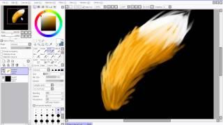 Рисуем мех(шерсть) в Easy Paint Tool SAI ᴴᴰ