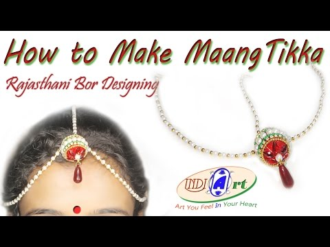 how to make maang tikka at home | silk thread jewellery | INDI ART | #3