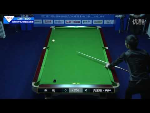 Zhang Yue VS Chris Melling - 2016 World Chinese 8 Ball Masters