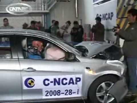 crash test 2008 volkswagen bora (full frontal) chinese model c