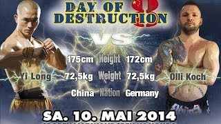 Yi Long vs Olli Koch - Day of Destruction 8 in Hamburg - Germany