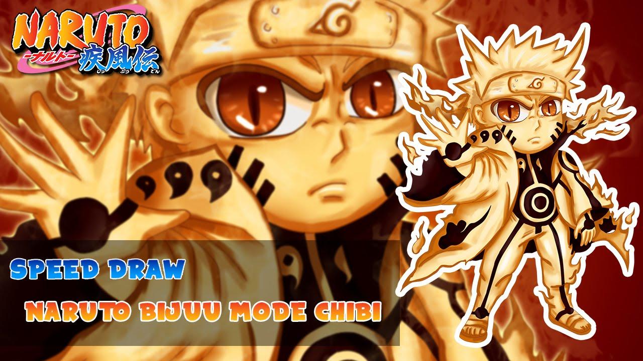 Speed Drawing Naruto Bijuu mode Chibi™ [Naruto Shippuden ...
