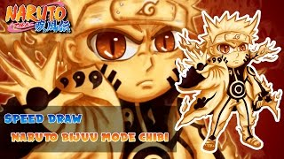 Speed Drawing Naruto Bijuu mode Chibi™ [Naruto Shippuden]