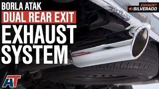 2014 2018 silverado 1500 borla atak dual rear exit 5 3l exhaust sound clip install