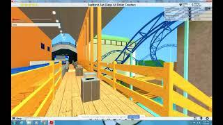 ROBLOX Theme Park Tycoon 2 Manta at SeaWorld San Diego 2018 Recreation HD POV roller coaster