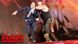 Braun Strowman returns to lay waste to Miz & The Miztourage: Raw, Oct 30, 2017