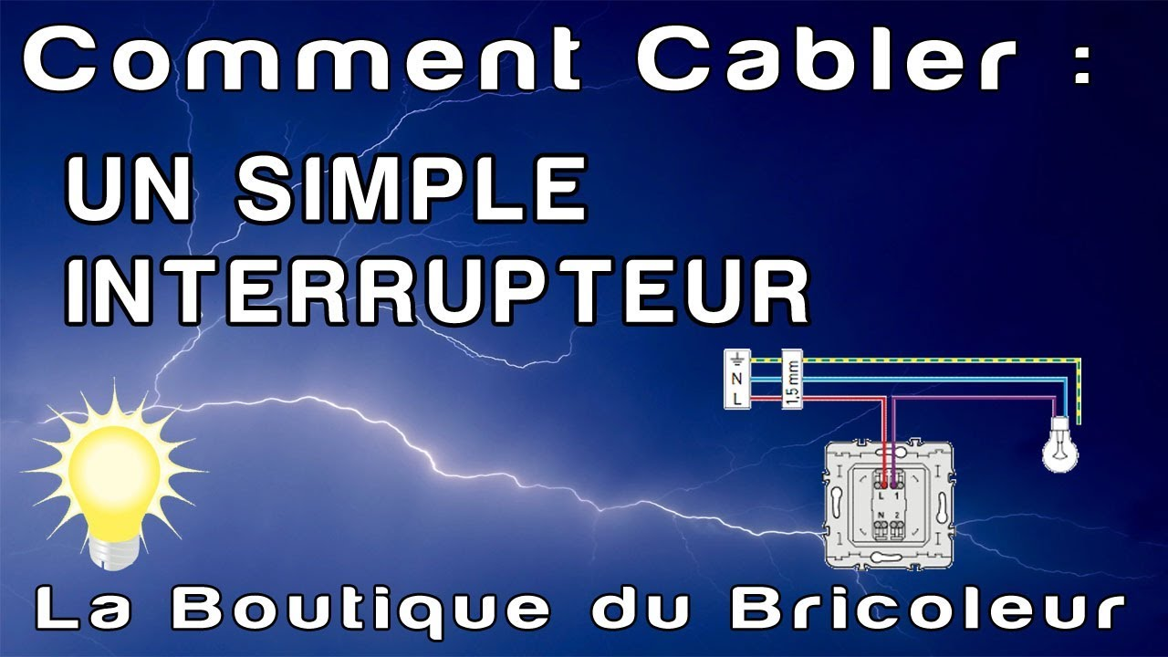 De a z montage interrupteur simple pour un point d 39 clairage comment c bler raccorder - Comment brancher un interrupteur ...