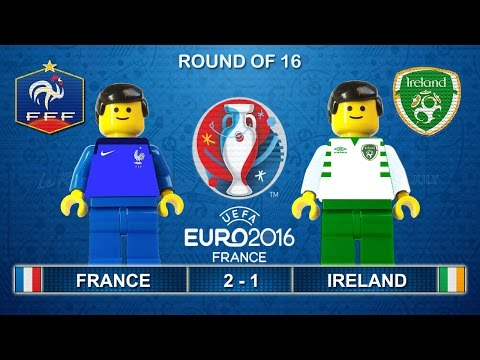 Euro 2016 - France vs Ireland 2-1 Lego Football Goals and Highlights ( France - Irlande )