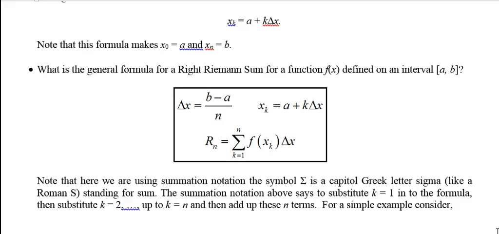 Calculus 53 Left And Right Riemann Sums Youtube