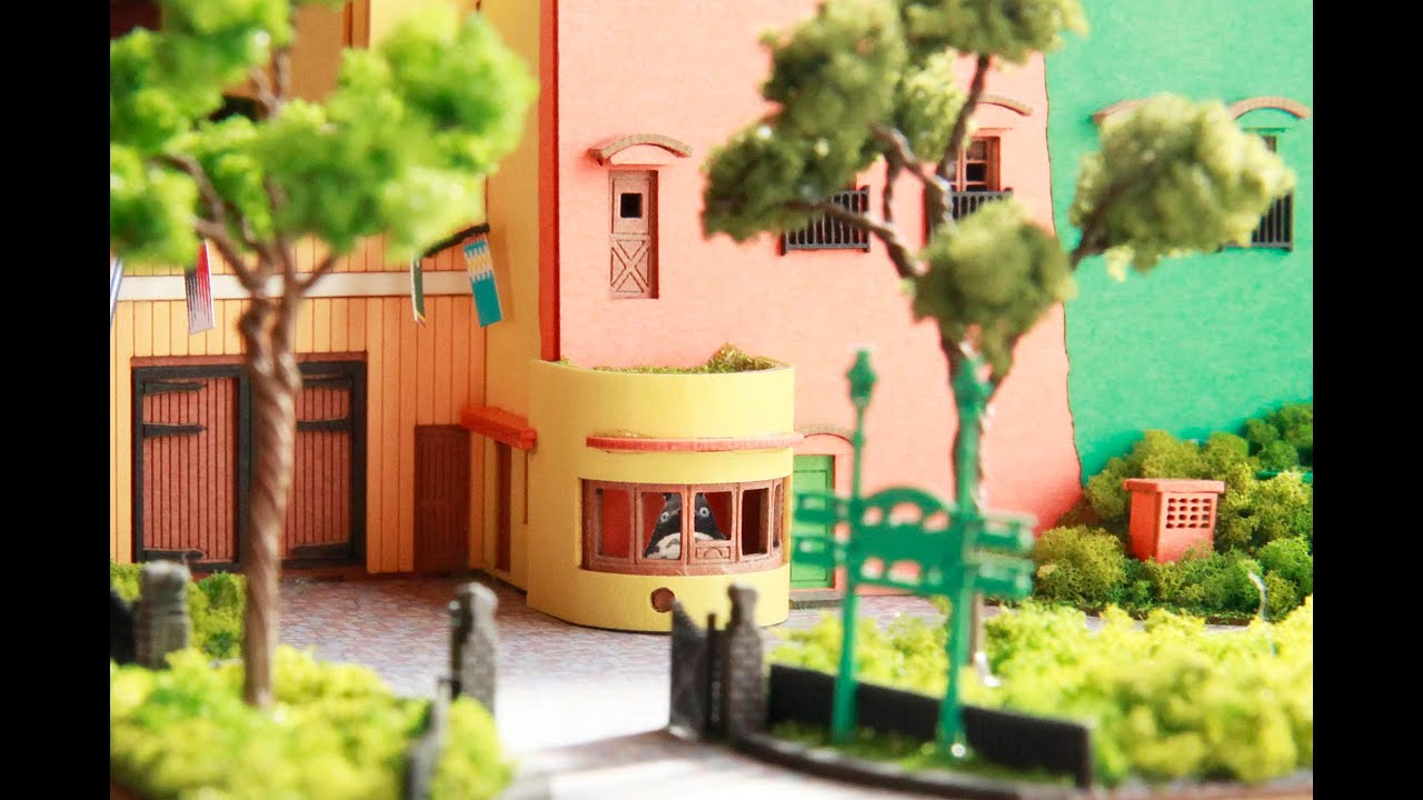 the amazing papercraft model from the ghibli museum see the museum