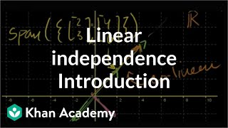 Introduction to linear independence