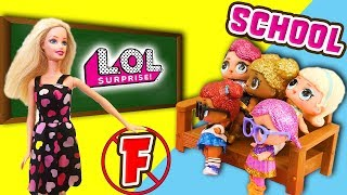 LOL Doll School! Glitter Series Fancy Gets In Trouble at School! Featuring Queen Bee & Super BB