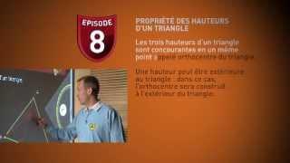 Maths 5eme (8) : hauteurs et médianes du triangle