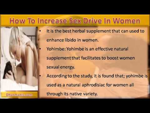 Enhance sex drive in females
