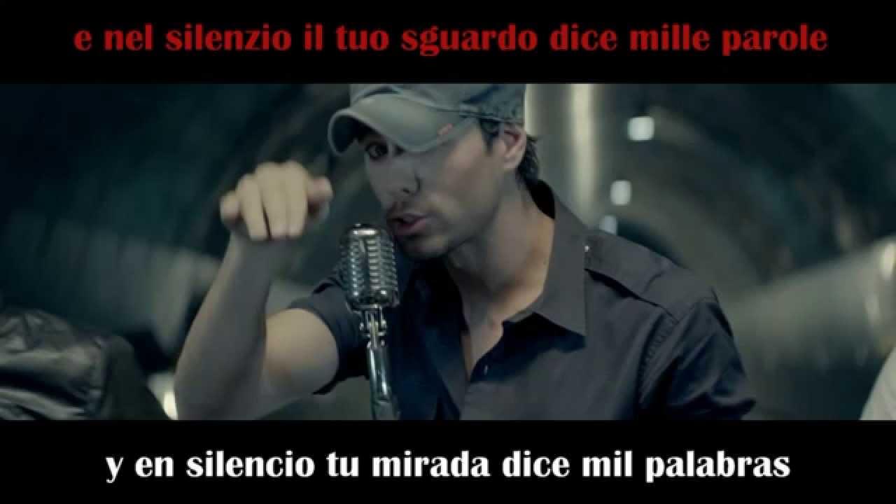Enrique Iglesias Bailando Spanish And Italian Lyrics Youtube