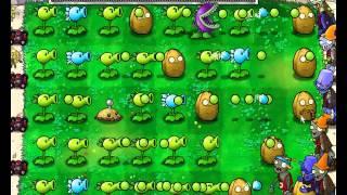 Plants vs Zombies уровень 1-10